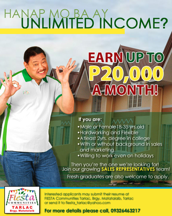 Hanap mo ba ay unlimited income?  Earn up to PHP 20,000 A MONTH!